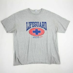 Speedo Men's Lifeguard TShirt XL Gray Regular Fit